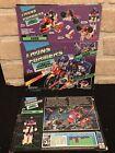 Vintage 1989 Transformers Action Masters Decepticon Axer Box Art & Card Back