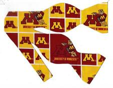 (1) Bow Tie- Minnesota Golden Gophers with Goldy Gopher (Blocks)