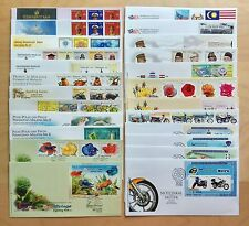 Malaysia Complete Yearly Set of 24 FDC issued in 2003 (a nice collection lot)