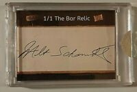 2019 The Bar Pieces of the Past Milt Schmidt Cut Autograph #1/1 Bruin Hof Auto
