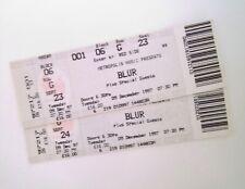 RARE Blur Tickets Wembley Arena 09/12/97 Mint Condition Ticket Stub Memorabilia