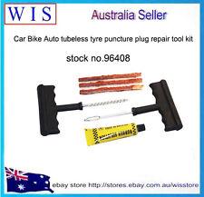 Car Bike Auto Tubeless Tyre Puncture Plug Repair Tool Kit with 3 Strip-96408