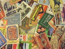 MIX BAG/LOT OF 100 MATCHBOX LABELS / Streichholzschachtel Etiketten
