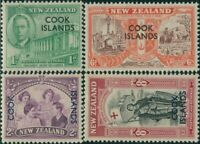 Cook Islands 1946 SG146-149 Peace set with COOK ISLANDS ovpt MNH