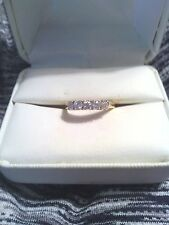 Diamond Ring Yellow Gold 14 kt band sz 7-7.5