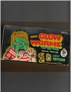 Fleer non sport issiue of Glow Worms empty display non sport box