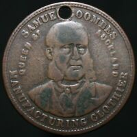 1874 | New Zealand S. Coombes Auckland Penny Token | Copper | Tokens | KM Coins