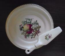 VTG Harker Harkerware Cake or Pie Plate & Lift Server Apple Fruit Motif