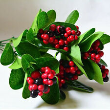 Hot Sell Artificial Lucky Fruit Bunch Foliage Fake Plant Plastic Home Decor