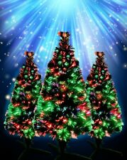 Fiber Optic Color Changing Christmas Tree with Flashing Multi Colored Pre Lit
