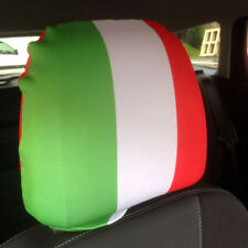 Italy Country Flag Design Car Seat Head Rest Covers Pack Of Two Accessory Gift