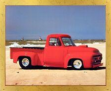 Ford F-100 Harley Koopman Vintage Pickup Truck Wall Decor Golden Framed Picture
