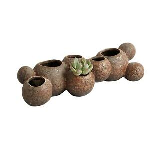 Contemporary Rustic Coral Reef Bud Vase Fat Bubble Barnacle Spheres Sand Balls
