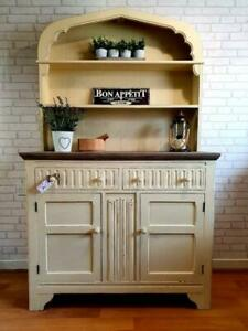 Stunning Large Dutch Priory Welsh Dresser Sideboard Cupboard Cabinet Shabby Chic