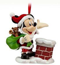 Disney Store Santa Mickey Mouse Sketchbook Christmas Ornament