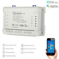 SONOFF 4CH Rev2 Wireless WiFi Smart Switch for Amazon Alexa / Google Assistant