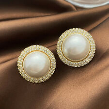 925 Silver,Gold Stud Earrings for Women Fashion Pearl Jewelry A Pair/set