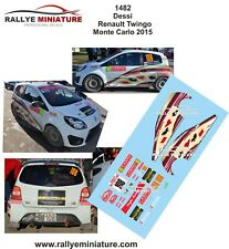 DECALS 1/18 REF 1482 RENAULT TWINGO DESSI RALLYE MONTE CARLO 2015 WRC RALLY