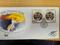 New zealand stamps  FDC 1996 Olympic  Gold