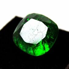 6.38ct Unheated Emerald SAPPHIRE 10MM CUSHION SHAPE AAA COLOR LOOSE GEMSTONE