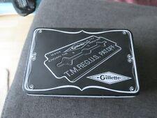 Gillette Metallbox Blechdose - 17cm x 11cm x 4,5cm - LEER- empty