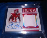 National Treasures Sammy Watkins Colossal Patch Auto /25  KC Superbowl Champion