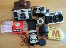 Joblot Vintage Cameras & Accessories, Ilford, Yashica, Dacora, Zeiss, flash bulb