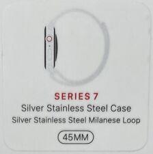 Apple Watch Series 7 45mm Silver Stainless Steel Milanese Loop GPS Cellular LTE