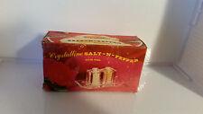 VINTAGE CRYSTALLINE SALT & PEPPER SHAKERS WITH ORIGINAL BOX