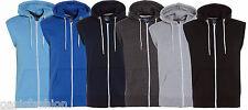 NEUF pour hommes sans manche uni haut à capuche en polaire gilet veste blouson