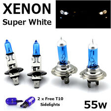 H1 H7 T10 55w SUPER WHITE XENON Upgrade Head light Bulbs Set Dip Main Beam D