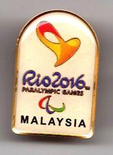 RIO 2016. PARALYMPIC GAMES. NOC PIN. MALAYSIA