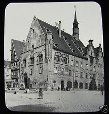 Glass Magic Lantern Slide THE RATH HAUS ULM C1890 GERMANY