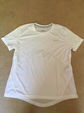 Nike womens Dri fit running short sleeved t shirt  new size M white