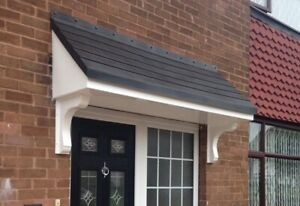Made to measure - Palermo GRP Fibreglass Overdoor Front Porch Canopy Anthracite