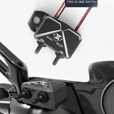 Motorcycle external lighting Toggle switch control box aluminum alloy  black