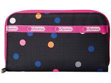 NWT LeSportsac Lily Zip Around Wallet - Litho Dot Pink $54