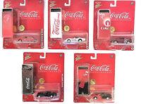 Coca Cola Johnny Lightning Diecast Cars with Bonus Tin Lot of 5