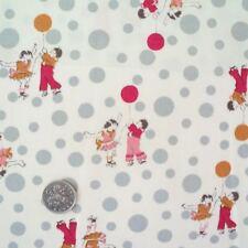 GLOBOS GRIS LINDO INFANTIL DISEÑO tela de algodón por metro cuarto del bebé