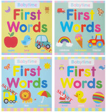 4 x Babytime Baby First Words Books  ABC Hardback Early Reading Educational
