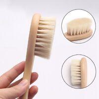 Newborn Baby Brush Wooden Hairbrush Natural Hair Brush Soft Bristles Scrub Tools