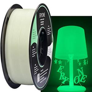 Eryone Glow Green in The Dark PLA 3D Printer Filament 1.75mm, Dimensional +/- /