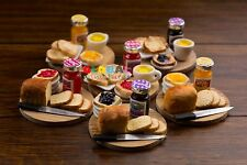 Dollhouse Miniatures Collection of Toast and Fruits Jam - 1:12