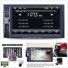 In-dash 6.6'' HD 2Din Car Audio Radio MP5 Player Mirror Link FM USB AUX & Camera