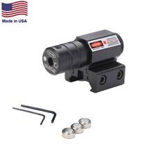 Pointeur Visée Laser rouge avec 20mm/11mm Rail – réglage Hauteur et Dérive -