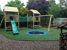 'The Works' Double 6ftsq QUALITY WOODEN CLIMBING FRAME, RRP £1795 Bargain Price
