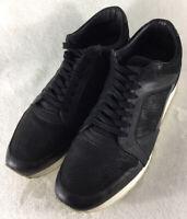 John Varvatos 315 Men's Black Fashion Sneakers Low Top Trainers F2660Q4 Sz 11 US