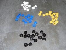 50 caches rivets couleurs au choix: blanc bleu jaune noir plaque immatriculation