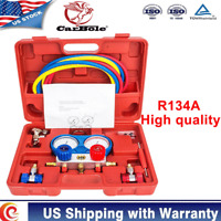 A/C Manifold Gauge Set R134a Car test Kit Refrigeration Manometer System  Gauge