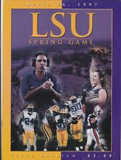 LSU Tigers 1997 Spring Football Game Program Gerry DiNardo Cecil Collins